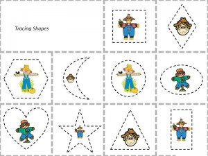 scarecrow tracing shapes activities