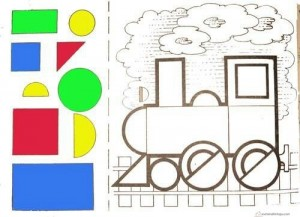 shapes cut and paste for preschool