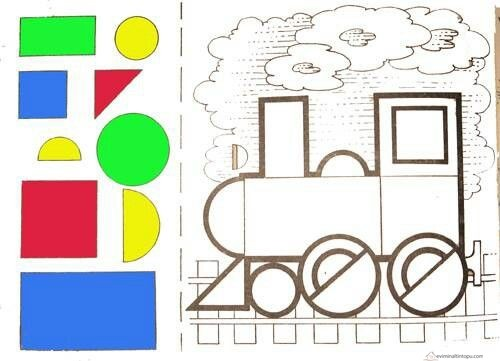 Shapes Cut And Paste For Preschool on Shapes Coloring Pages For Preschoolers
