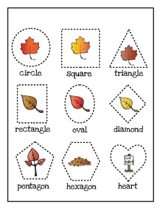 shapes leaf themed