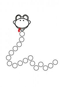 snake do a dot