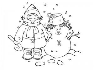 snowman coloring activities