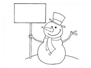 snowman coloring activity