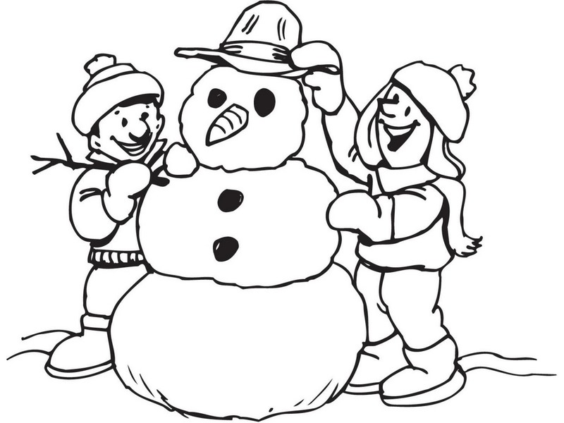 winter coloring pages snowman coloring pages - Snowman Coloring Pages