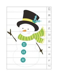 snowman puzzle activities