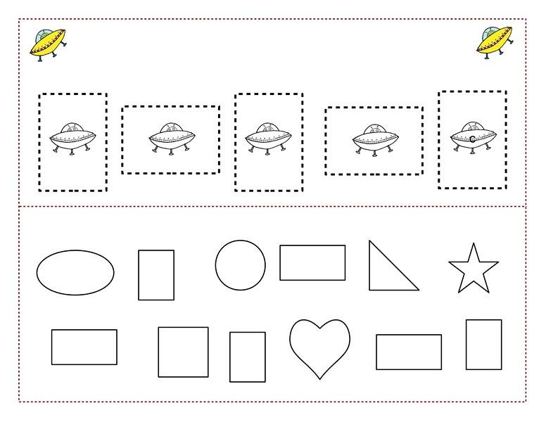 space theme shapes worksheets 3 funnycrafts. Black Bedroom Furniture Sets. Home Design Ideas