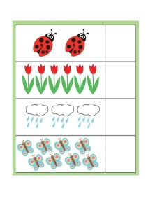 spring printables counting