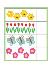 spring printables counting activities