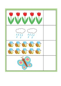 spring printables counting worksheets