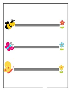 spring printables pre writing