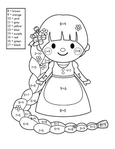 story addition coloring worksheets (1)