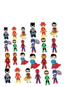superheroes worksheets cut and paste