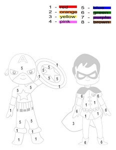superheroes worksheets dot to dots
