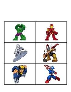 superheroes worksheets matching