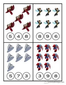 superheroes worksheets math