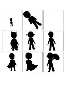 superheroes worksheets shadow match