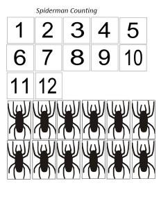 superheroes worksheets spider man count