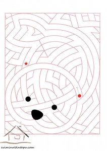 tracing line easy labyrinth