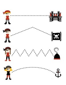 tracing pirate worksheets