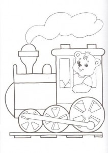 train cut and paste activities for kıds