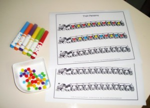 train pattern activity