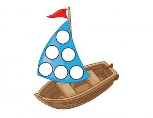 transportation printables boat do a dot