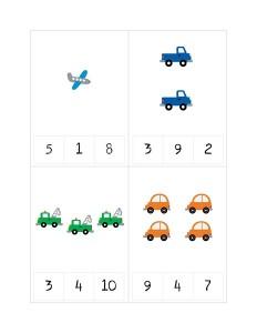 transportation printables number