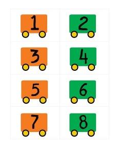 transportation printables number train