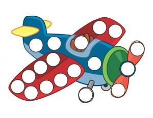 transportation printables plane do a dot