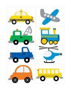 transportation printables puzzl