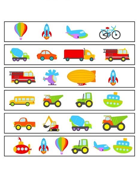 transportation printables worksheets (8) « Preschool and