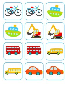 vehicles memory game activities (1)