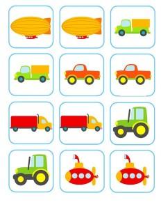 vehicles memory game activities (5)