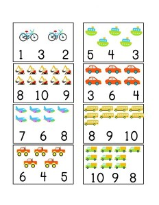 vehicles themed counting printables (1)