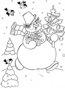 winter coloring pages for kıds
