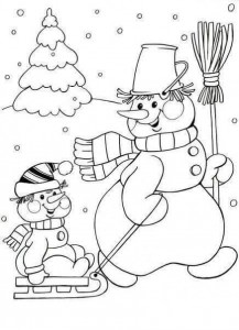 winter coloring pages for preschool