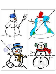 winter cutting pages for homeschool