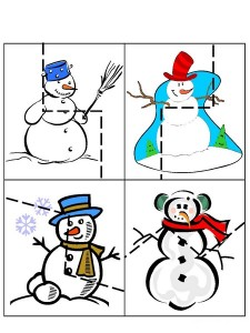 winter cutting pages for toddlers