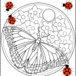 Martisor spring coloring pages