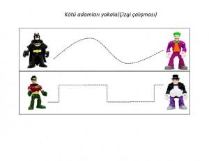 Batman pre writing activities