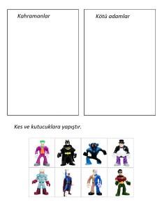 Batman sorting printable