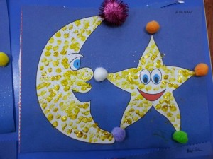 Day and night décor craft for kıds (6)