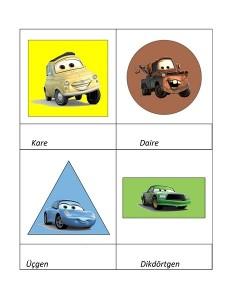 Lightning Mcqueen shapes activities (3)