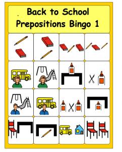 Prepositions bingo cards for kıds (2)
