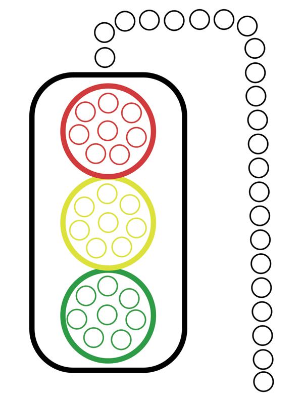 Traffic Light Do A Dot Worksheet on Recycle Worksheets For Preschool Education Com