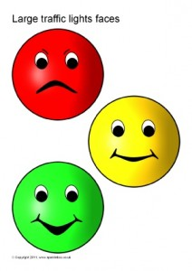 Traffic light faces printable