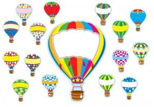 air balloon color activity