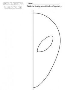 alien symmetry drawing worksheets