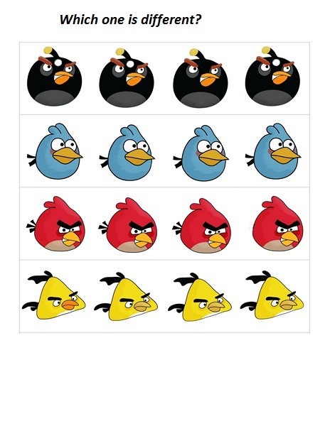 angry birds different activity
