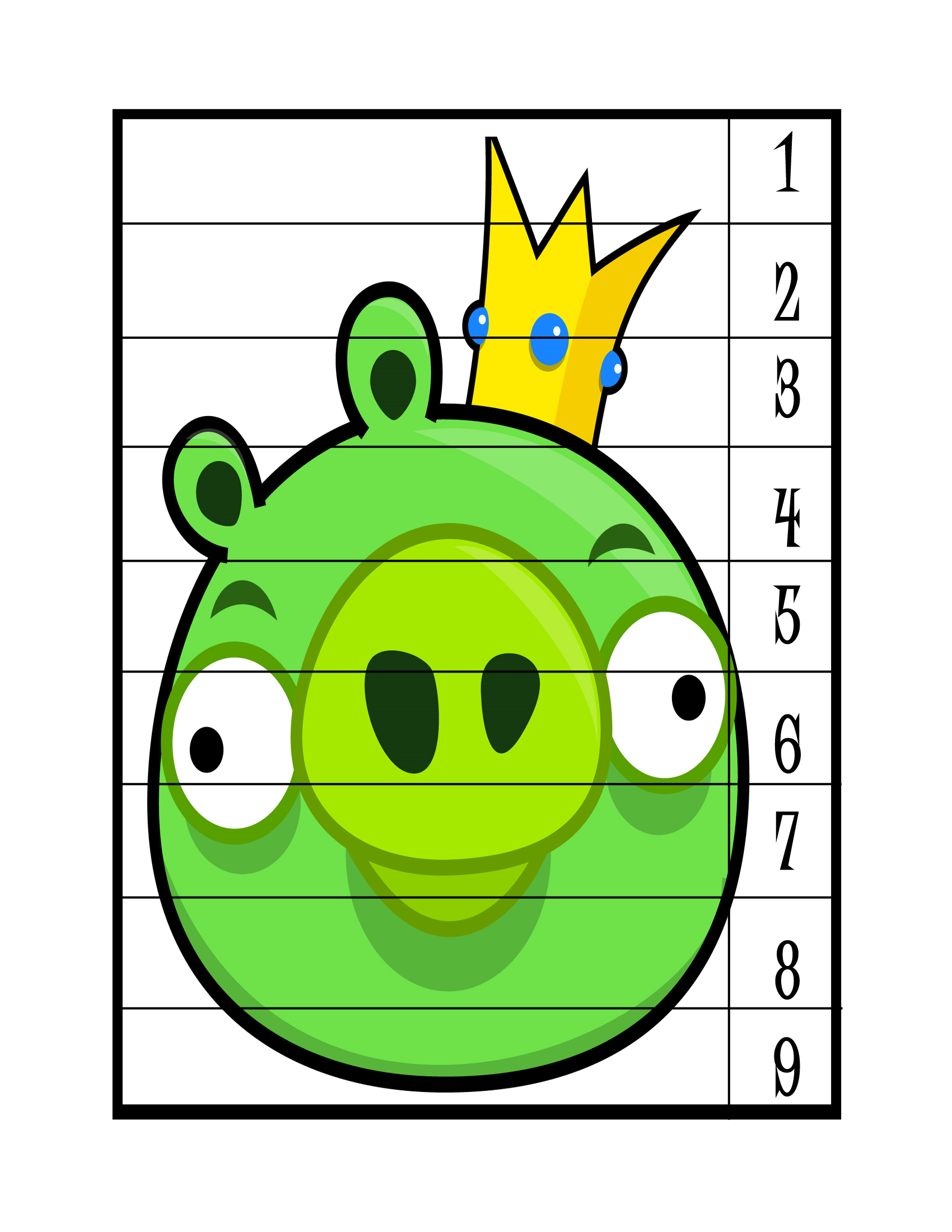 angry birds number puzzle